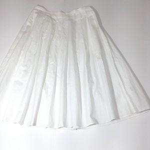 Vince Pleated Midi Skirt Size 4